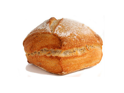 Square croustilevain bread roll